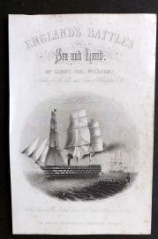 Williams 1857 Naval Print. Flag Ship of Admiral Napier. The Duke of Wellington